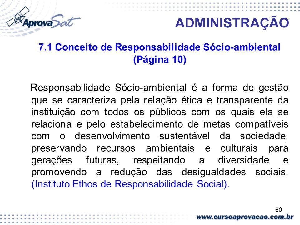 7.1 Conceito de Responsabilidade Sócio-ambiental (Página 10)
