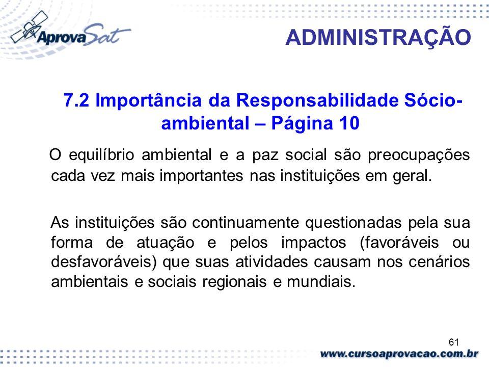 7.2 Importância da Responsabilidade Sócio-ambiental – Página 10