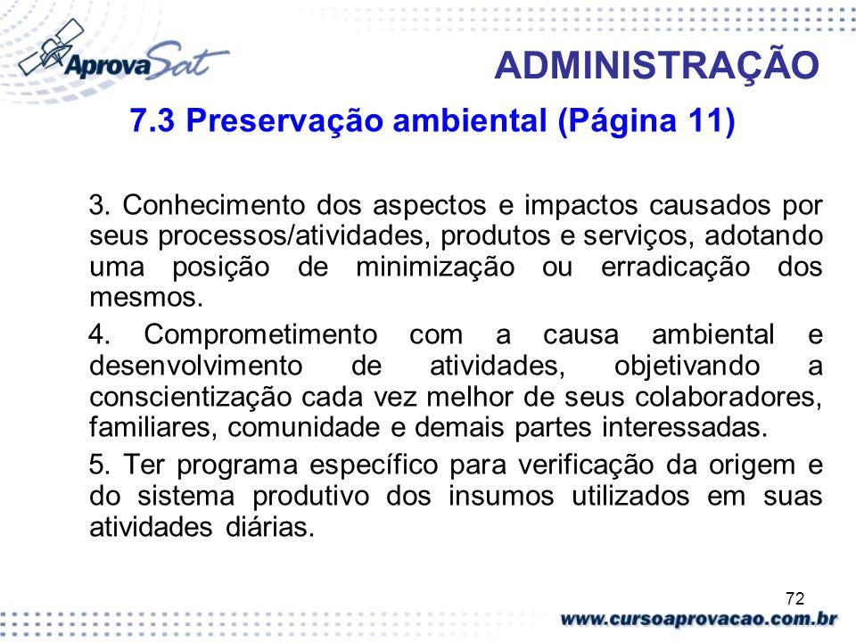 7.3 Preservação ambiental (Página 11)