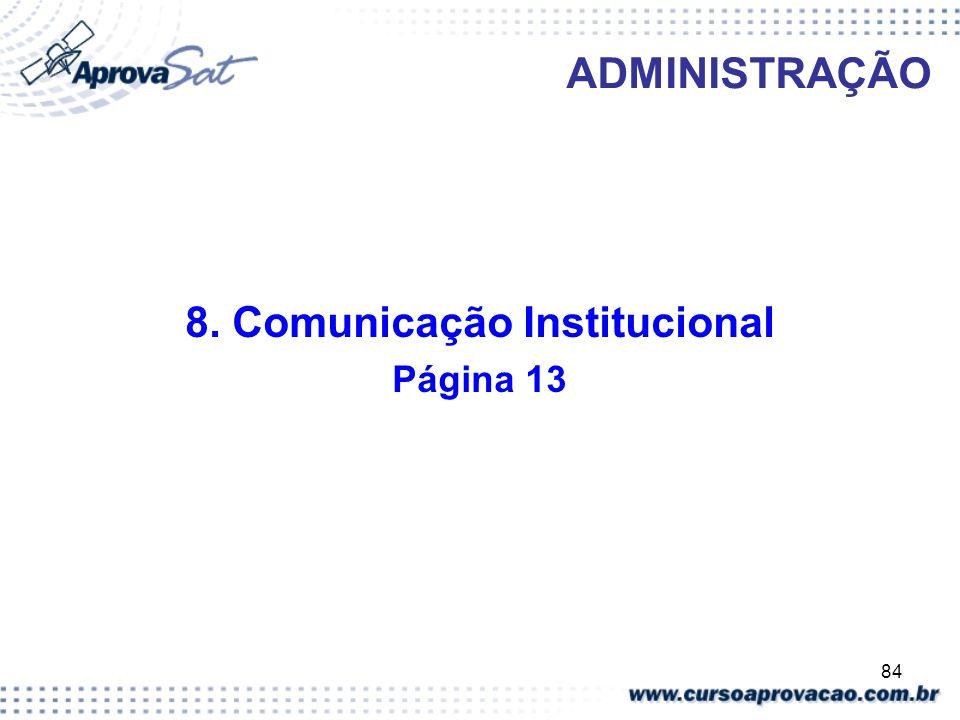 8. Comunicação Institucional