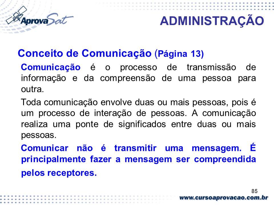 ADMINISTRAÇÃO Conceito de Comunicação (Página 13)