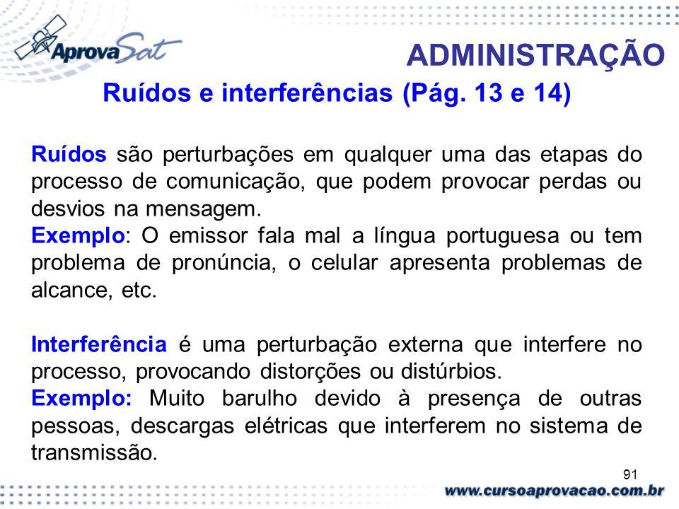 Ruídos e interferências (Pág. 13 e 14)