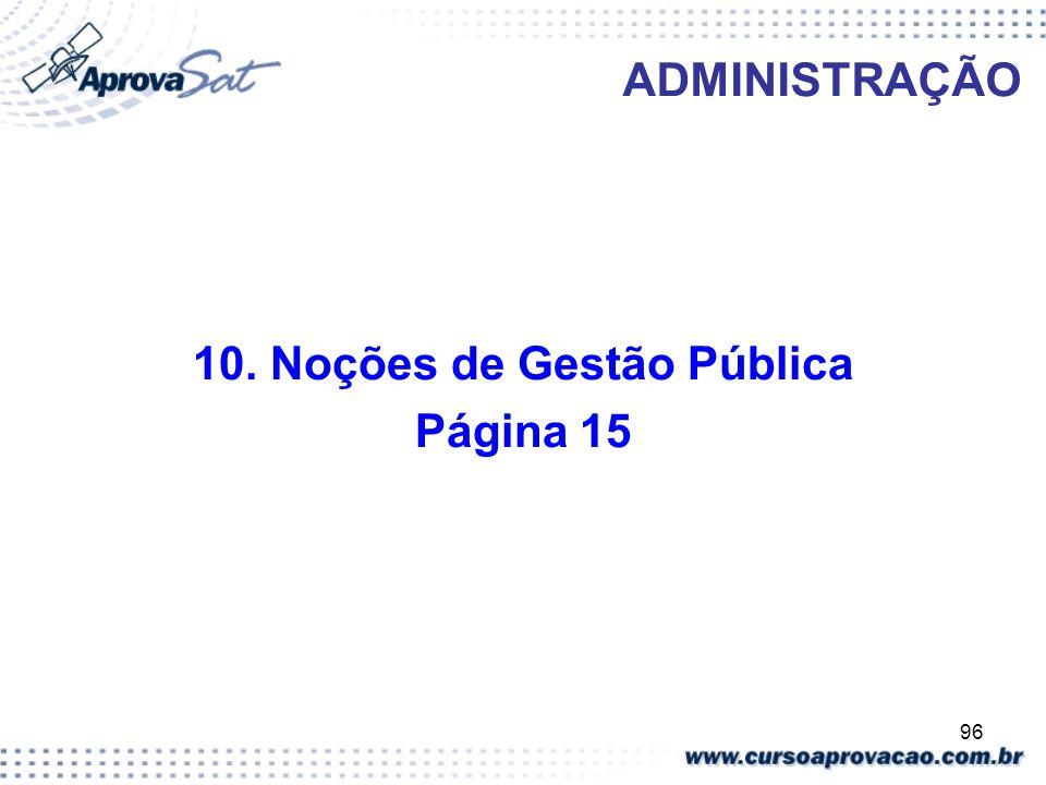 10. Noções de Gestão Pública