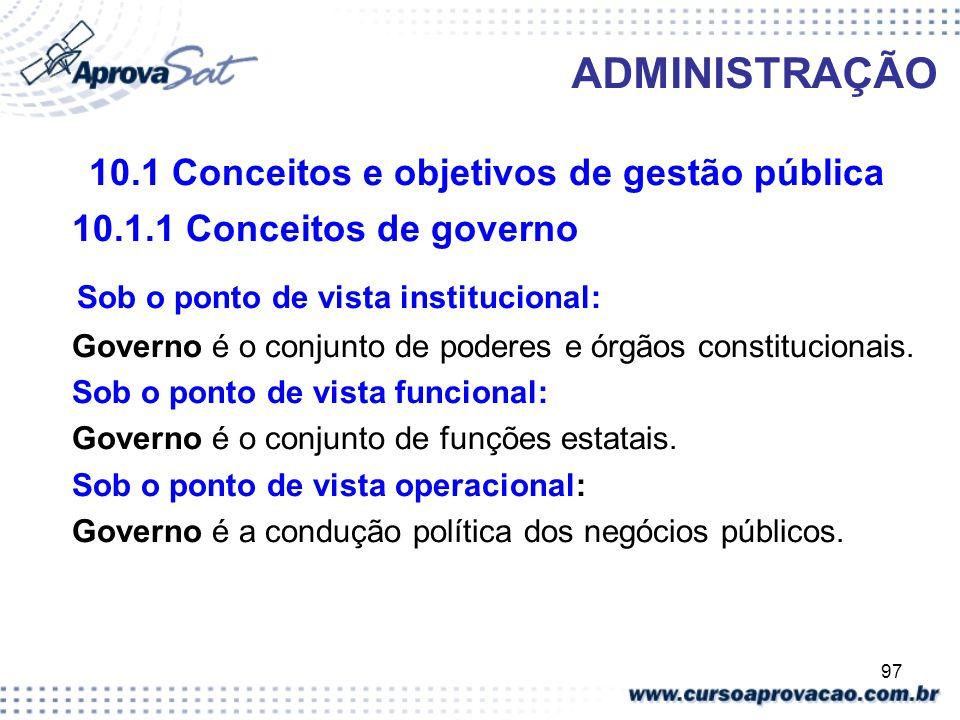 10.1 Conceitos e objetivos de gestão pública