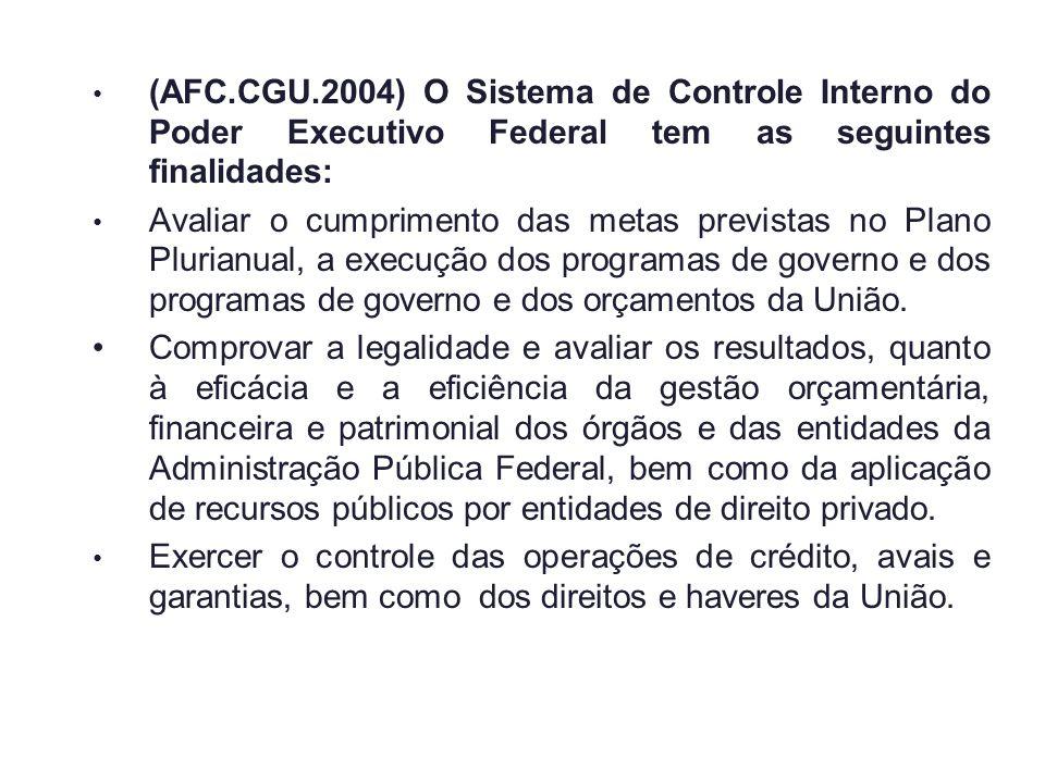 (AFC.CGU.2004) O Sistema de Controle Interno do Poder Executivo Federal tem as seguintes finalidades: