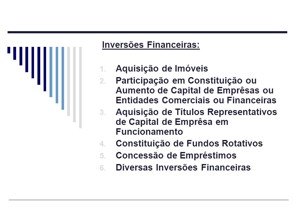 Inversões Financeiras: