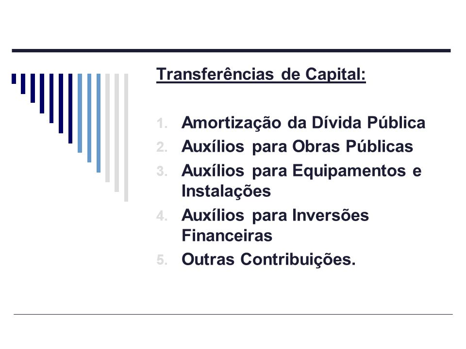 Transferências de Capital: