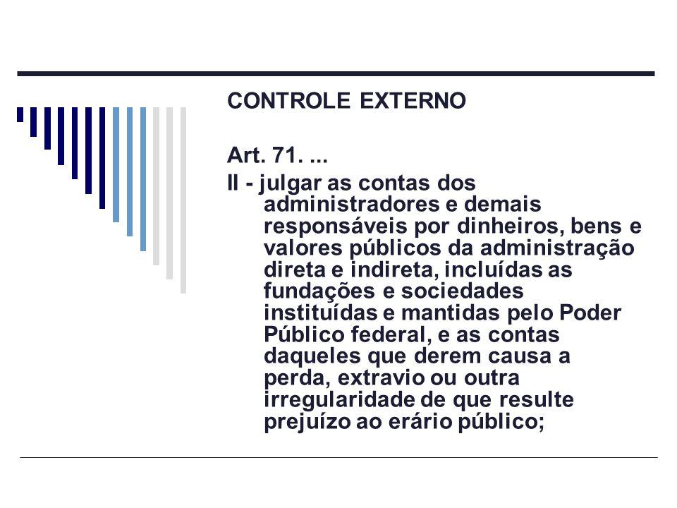 CONTROLE EXTERNO Art. 71. ...