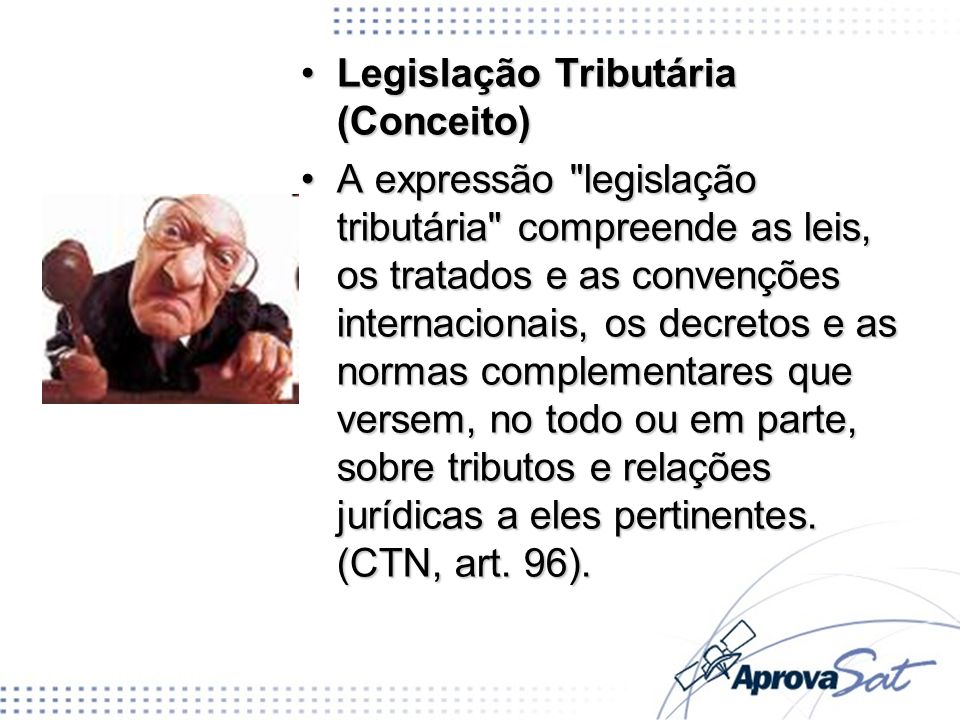 Legislação Tributária (Conceito)