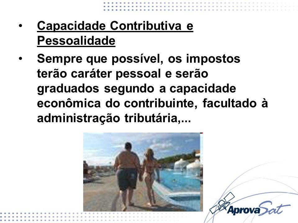Capacidade Contributiva e Pessoalidade