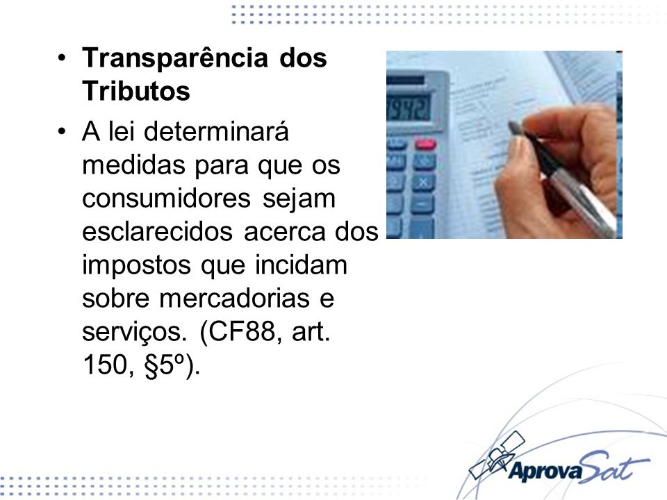 Transparência dos Tributos