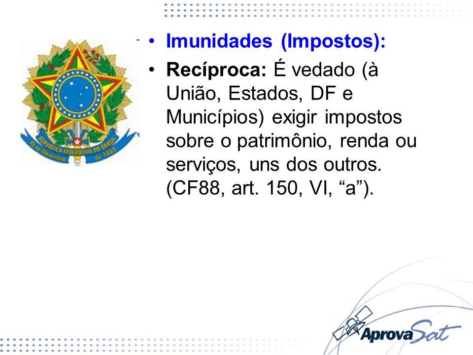 Imunidades (Impostos):