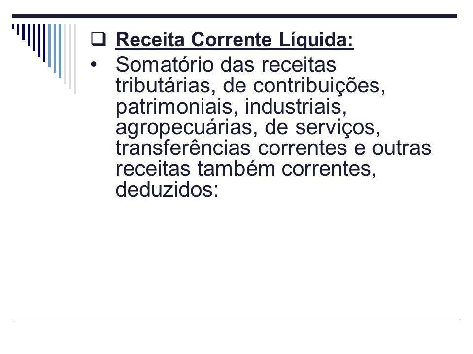 Receita Corrente Líquida: