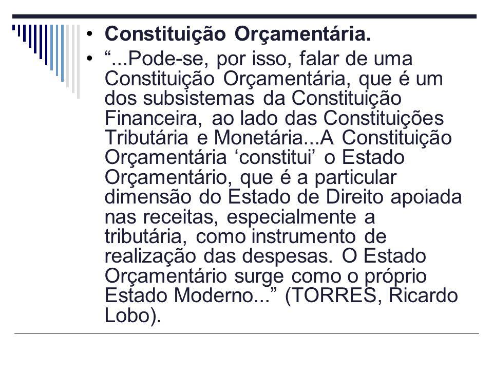 Constituição Orçamentária.