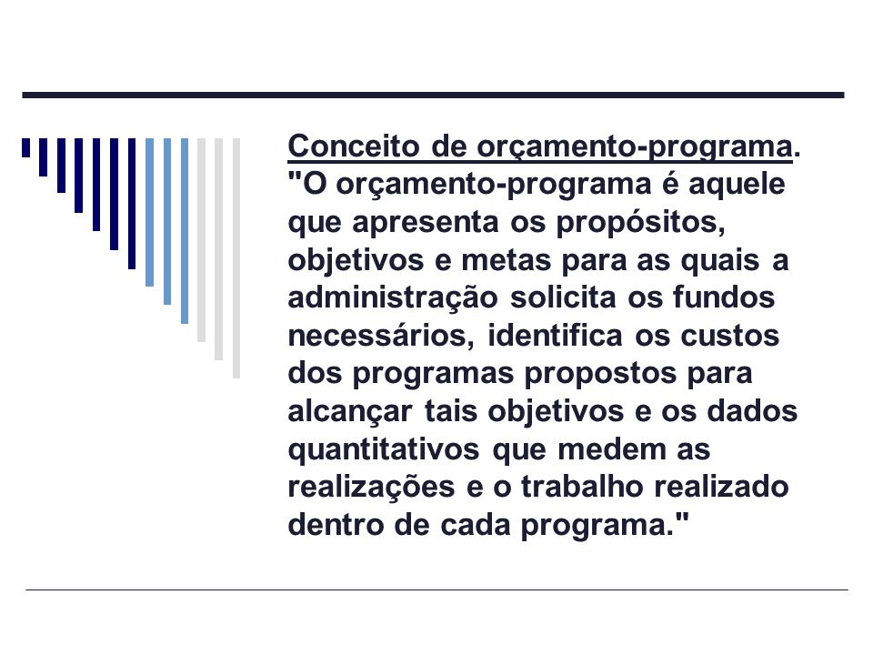 Conceito de orçamento-programa