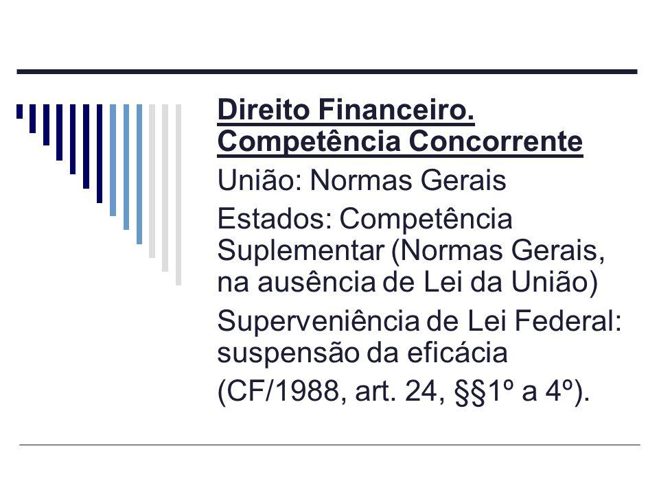 Direito Financeiro. Competência Concorrente