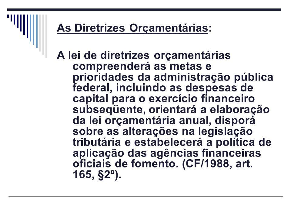 As Diretrizes Orçamentárias: