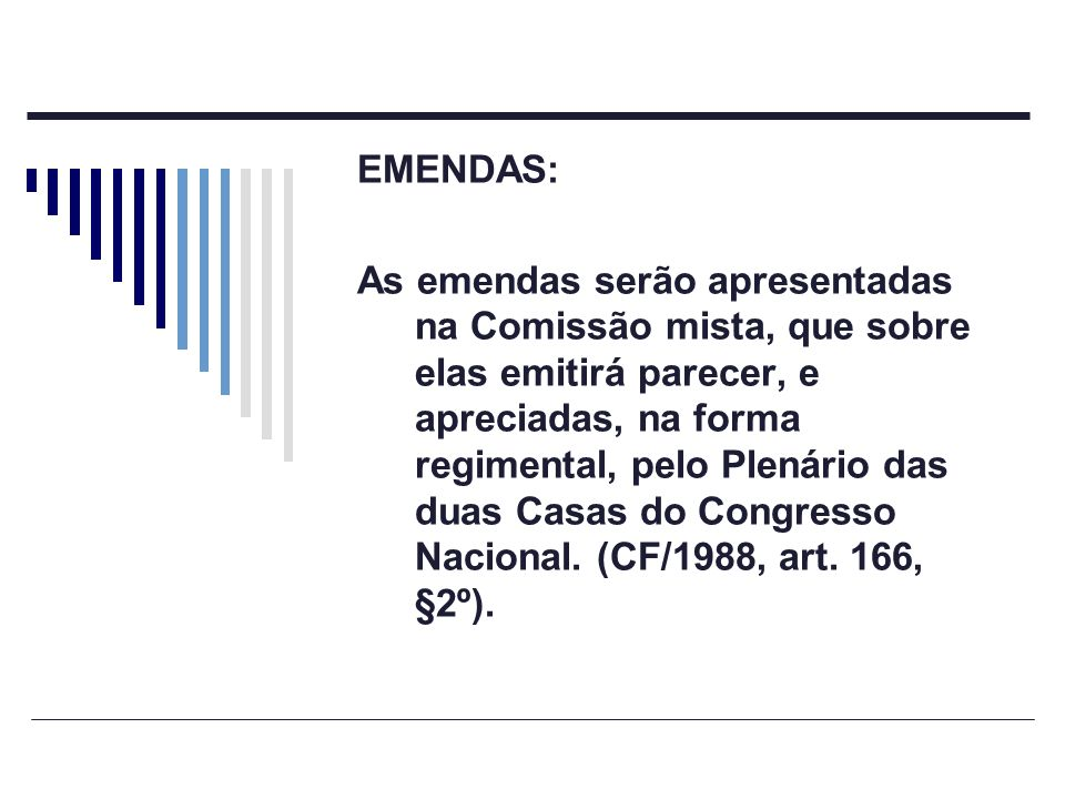 EMENDAS:
