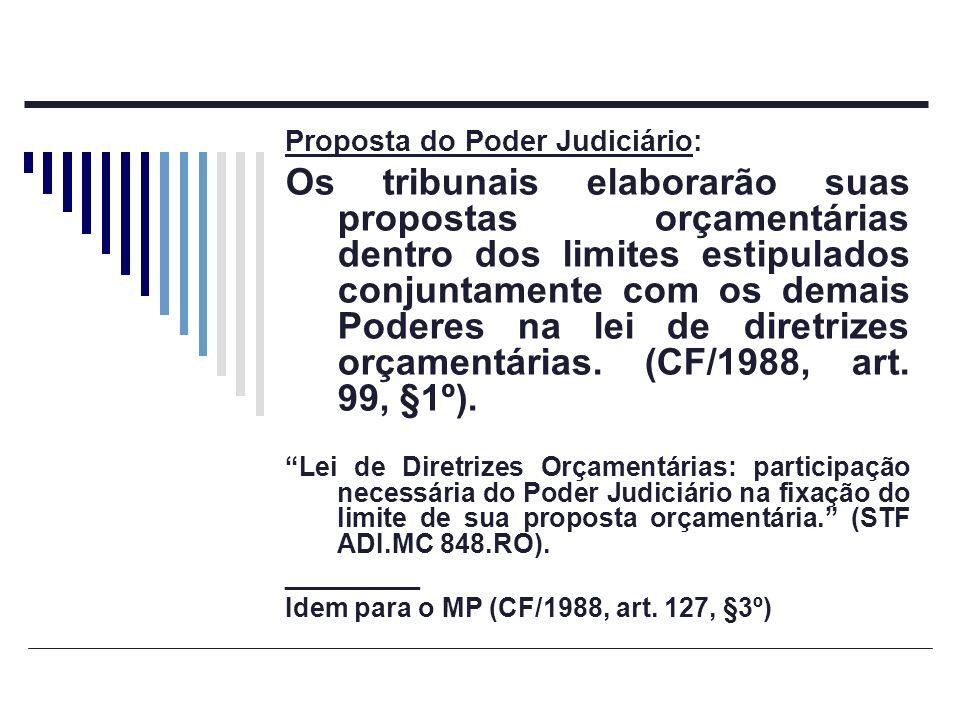 Proposta do Poder Judiciário: