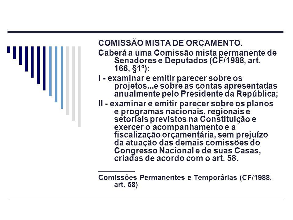 COMISSÃO MISTA DE ORÇAMENTO.