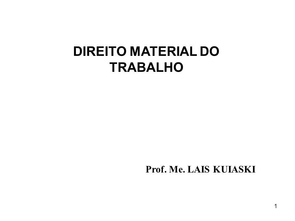 DIREITO MATERIAL DO TRABALHO