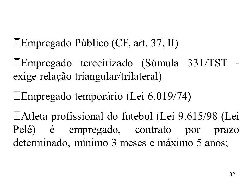 Empregado Público (CF, art. 37, II)