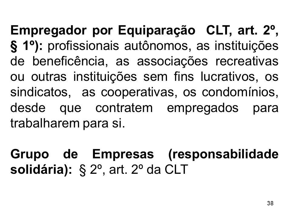 Empregador por Equiparação CLT, art