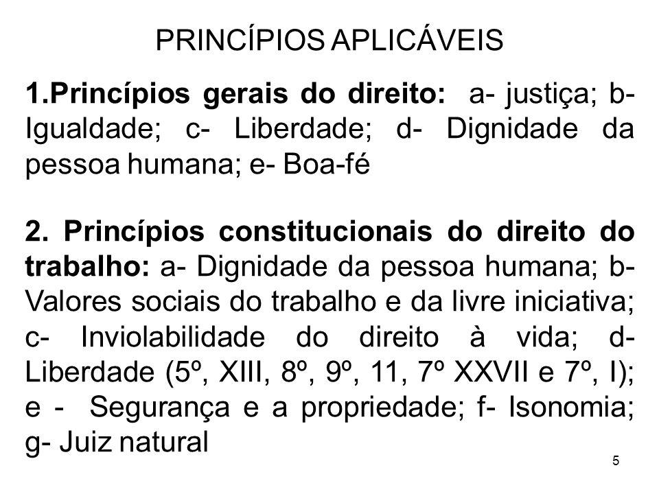 PRINCÍPIOS APLICÁVEIS