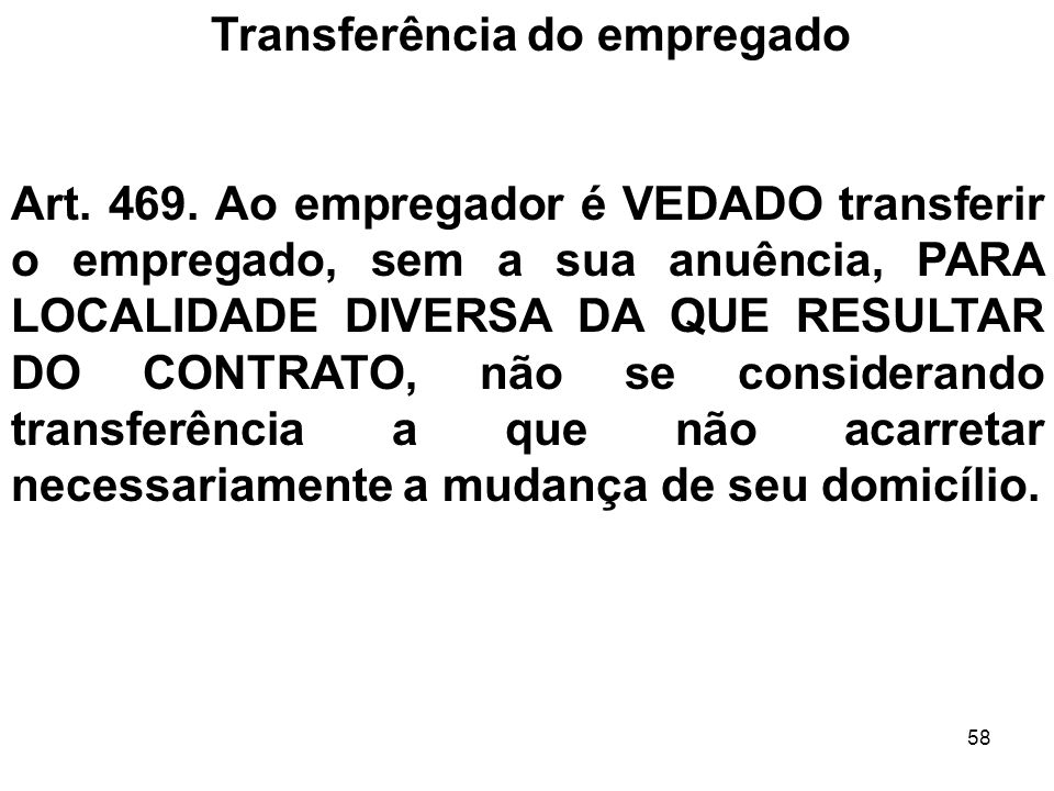 Transferência do empregado