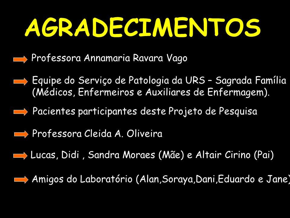 AGRADECIMENTOS Professora Annamaria Ravara Vago