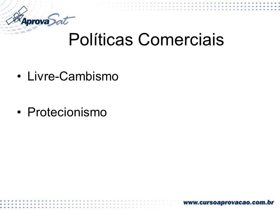 Políticas Comerciais Livre-Cambismo Protecionismo