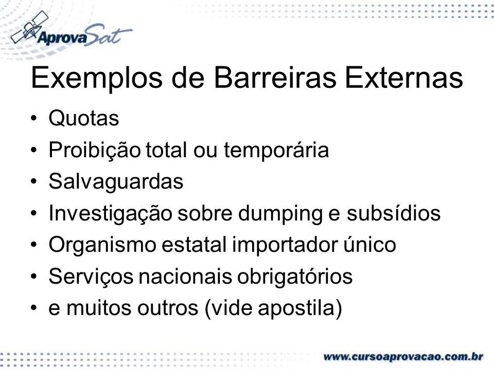Exemplos de Barreiras Externas