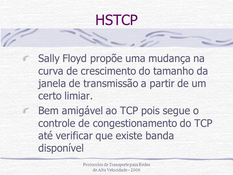 Protocolos de Transporte para Redes de Alta Velocidade - 2006