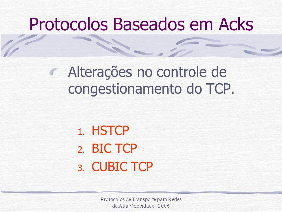 Protocolos Baseados em Acks