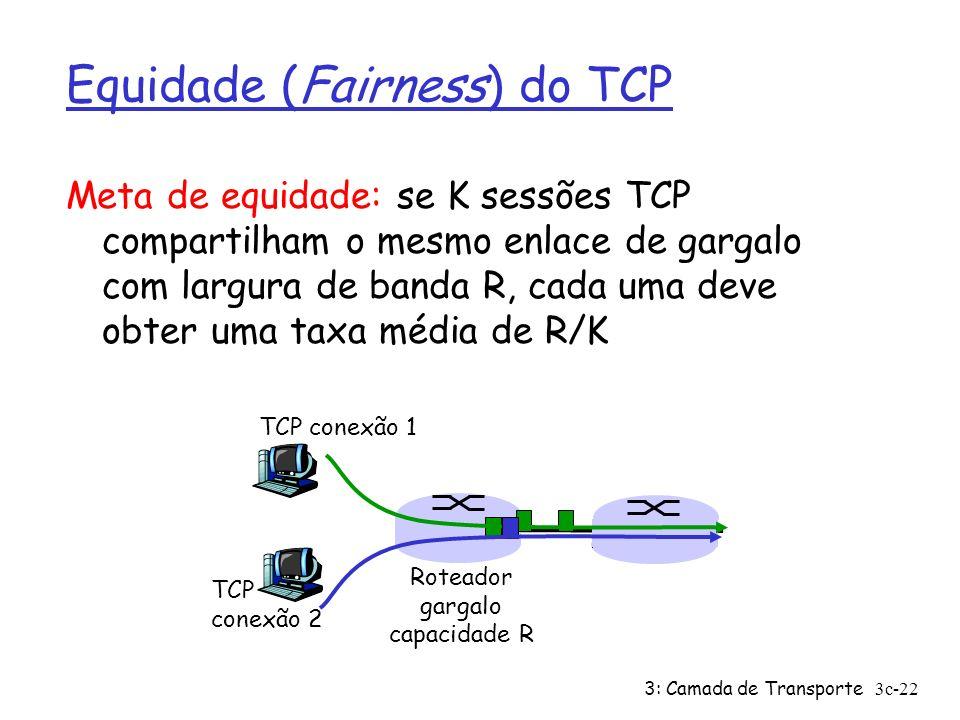 Equidade (Fairness) do TCP