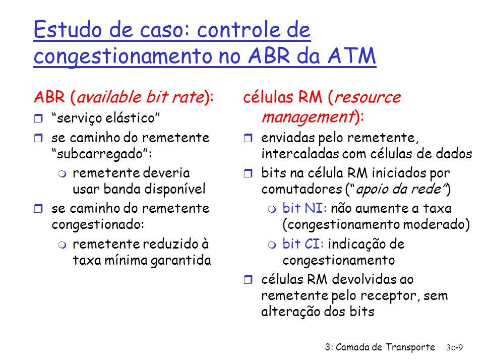 Estudo de caso: controle de congestionamento no ABR da ATM