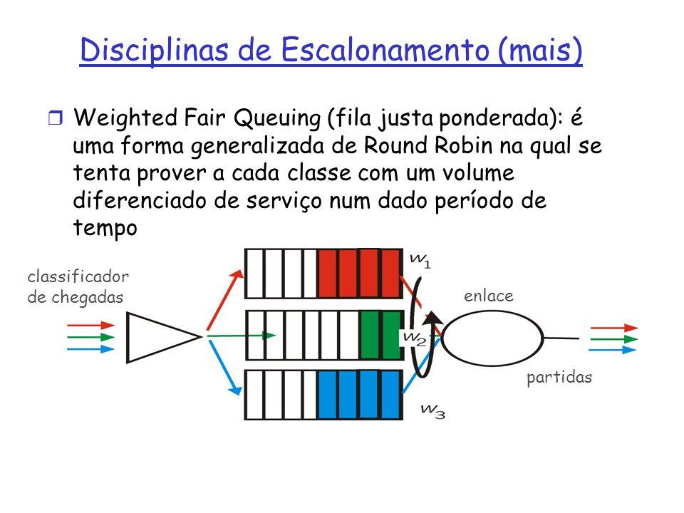 Disciplinas de Escalonamento (mais)