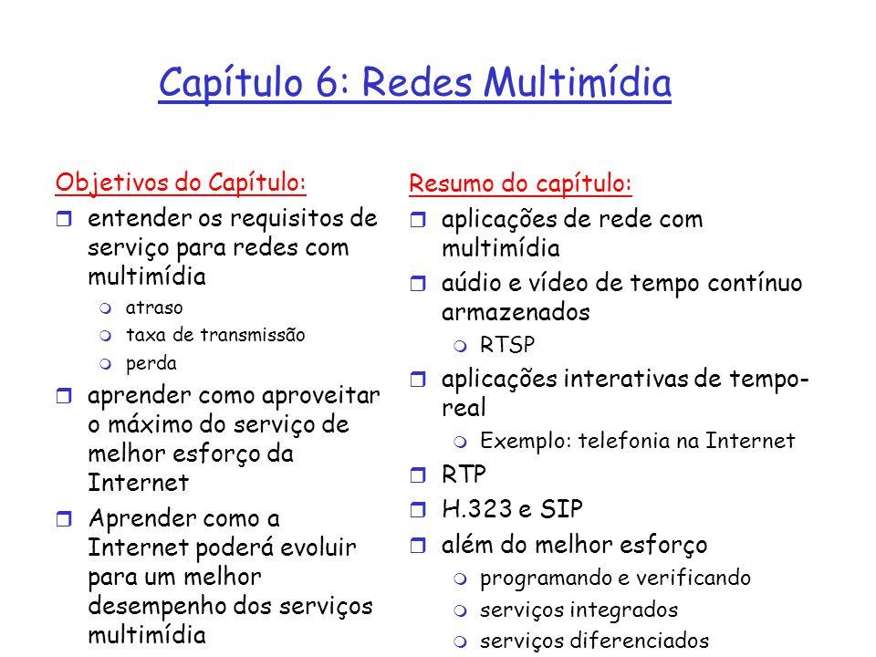 Capítulo 6: Redes Multimídia