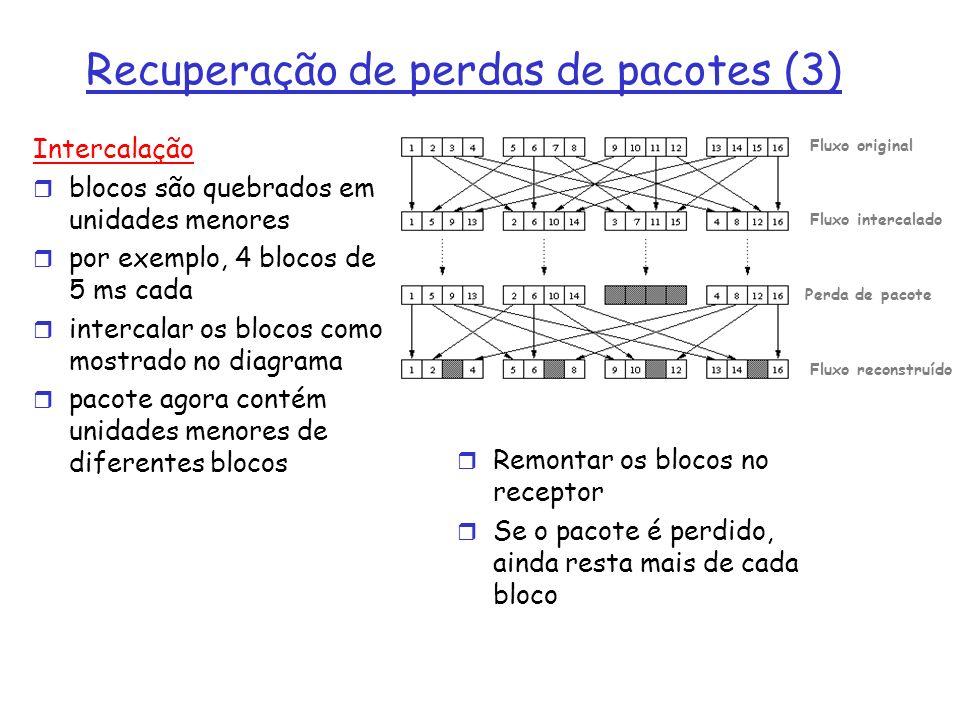 Recuperação de perdas de pacotes (3)