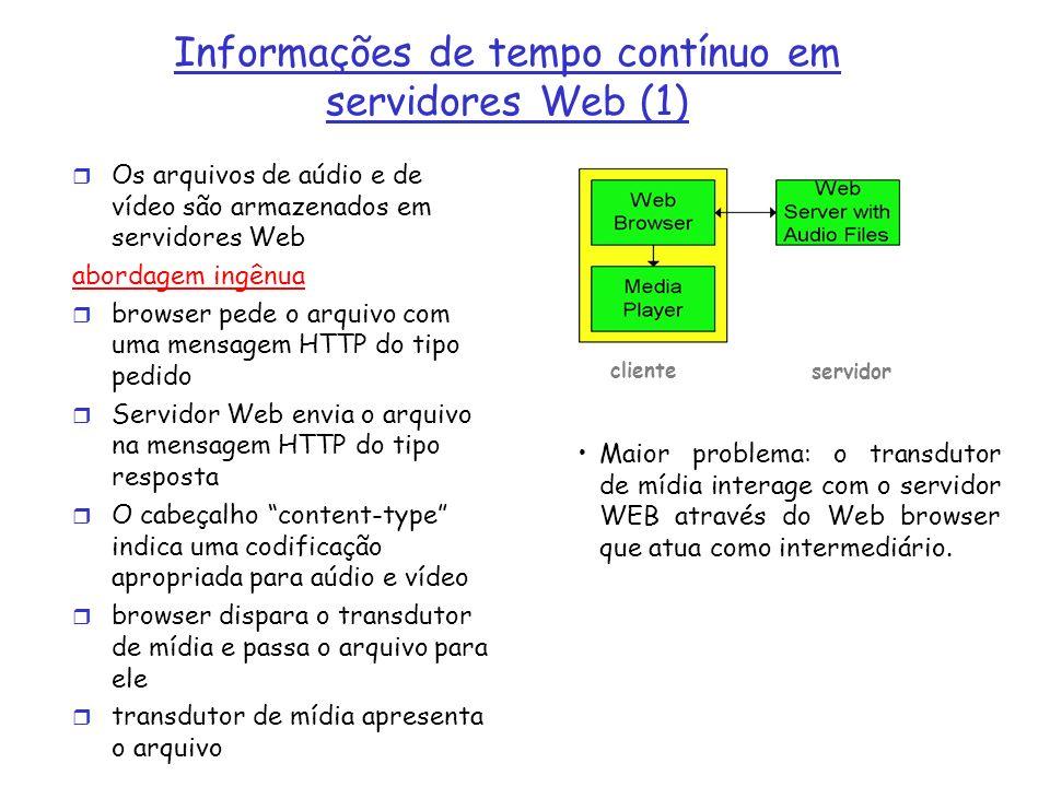 Informações de tempo contínuo em servidores Web (1)