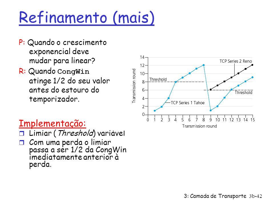 Refinamento (mais) Implementação: