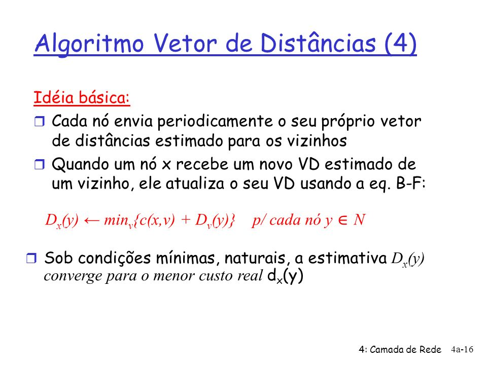 Algoritmo Vetor de Distâncias (4)