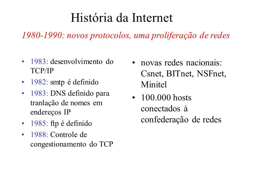 1980-1990: novos protocolos, uma proliferação de redes