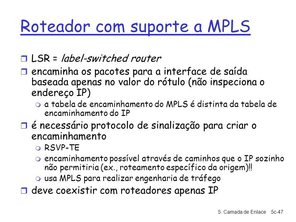 Roteador com suporte a MPLS
