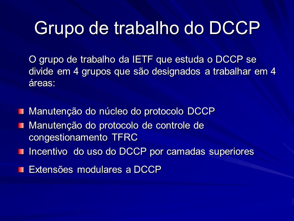 Grupo de trabalho do DCCP
