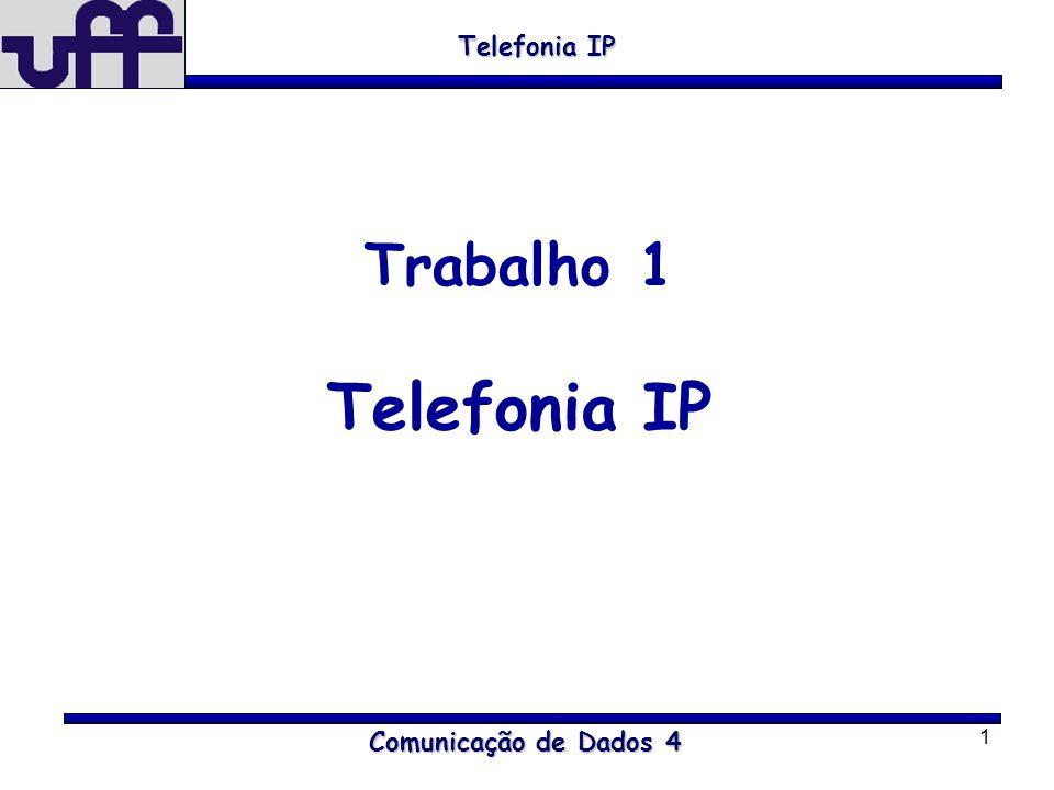 Telefonia IP Trabalho 1 Telefonia IP Comunicação de Dados 4