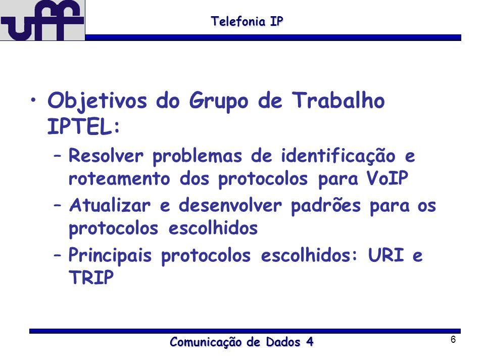 Objetivos do Grupo de Trabalho IPTEL: