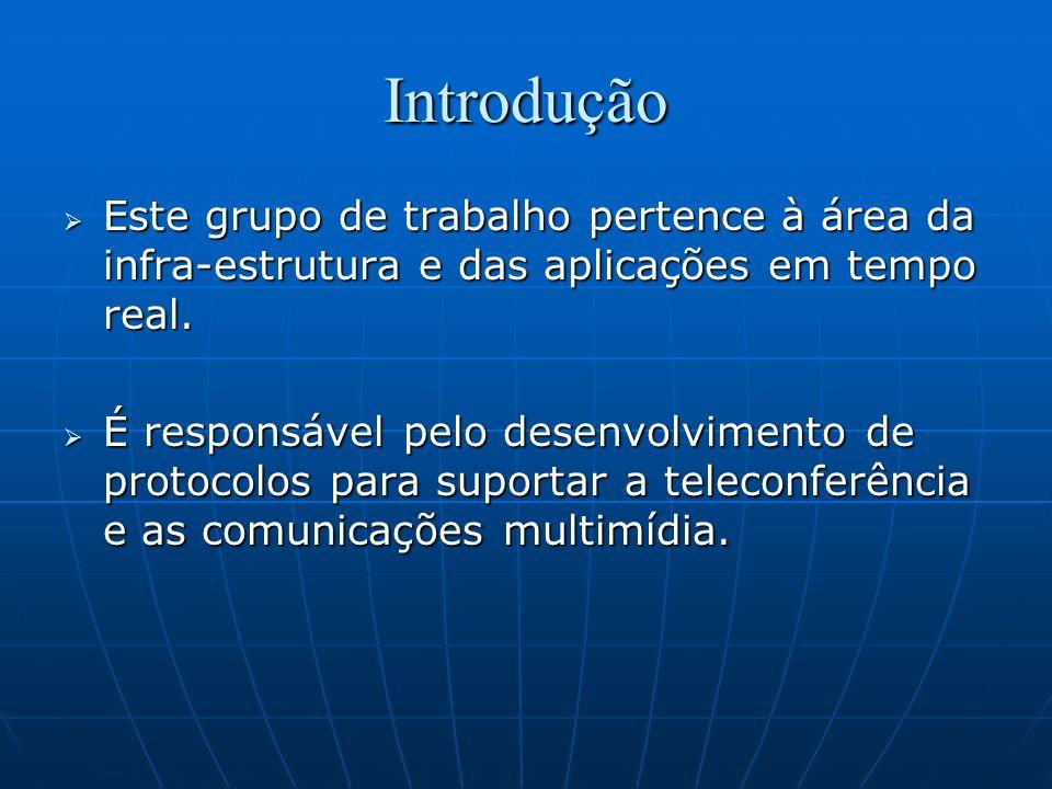 IntroduçãoEste grupo de trabalho pertence à área da infra-estrutura e das aplicações em tempo real.