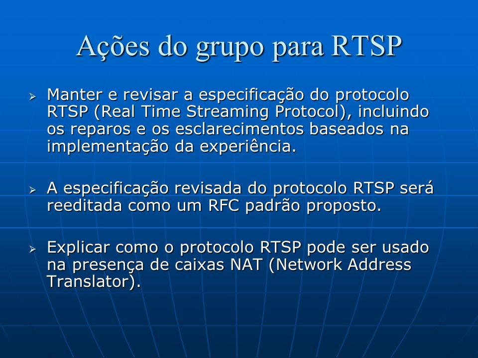Ações do grupo para RTSP
