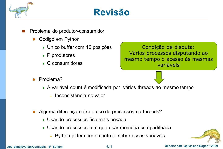 Revisão Problema do produtor-consumidor Código em Python